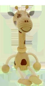 Holzfigur Greenkid. Giraffe von Abafactory dem tschechischen Hersteller der hochwertigen Holzspielzeuge und Dekorationen für Kinder.