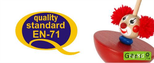 Abafactory hochwertige Produktion der tschechischen sicheren Holzspielzeuge GREENKID im Einklang mit der harmonisierten europäischen Norm EN 71.